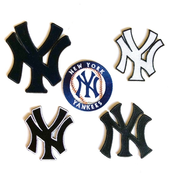 be29ae62bf820 New York Yankees Patches, Iron On Baseball MLB DIY Boutique